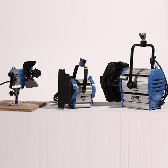 Image sur Kit de lampes Arri Fresnel