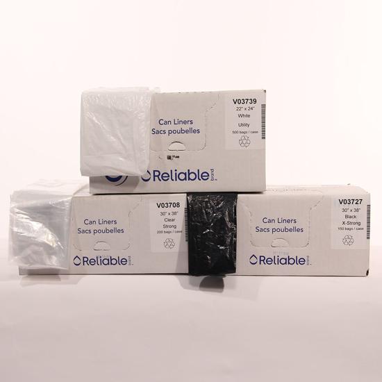 Picture of Sac poubelle noir 30 x 38, X-Fort paquet de 150